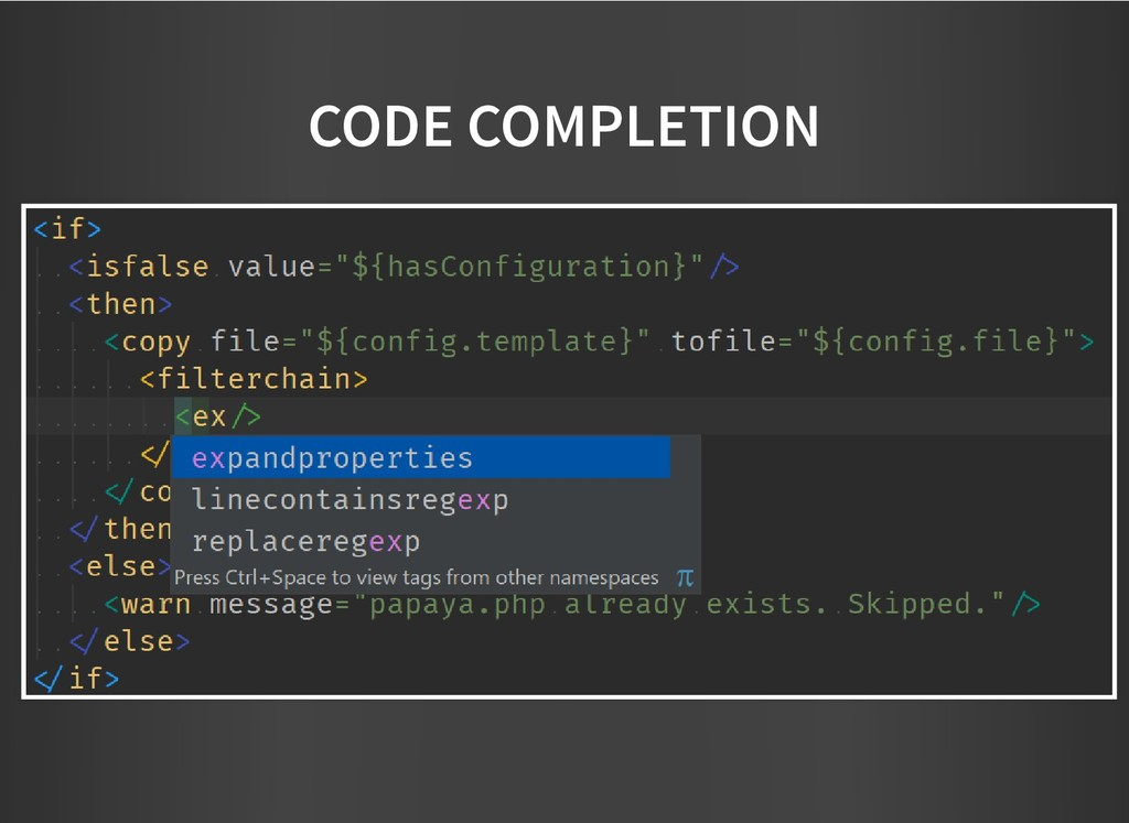 CODE COMPLETION CODE COMPLETION