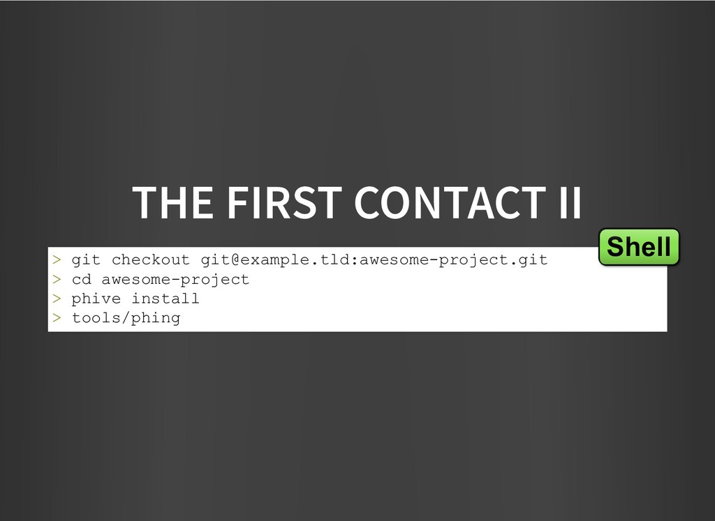 THE FIRST CONTACT II THE FIRST CONTACT II > git...