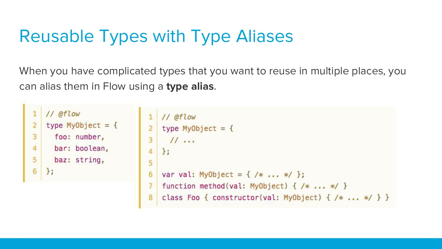 Reusable Types with Type Aliases When you have ...