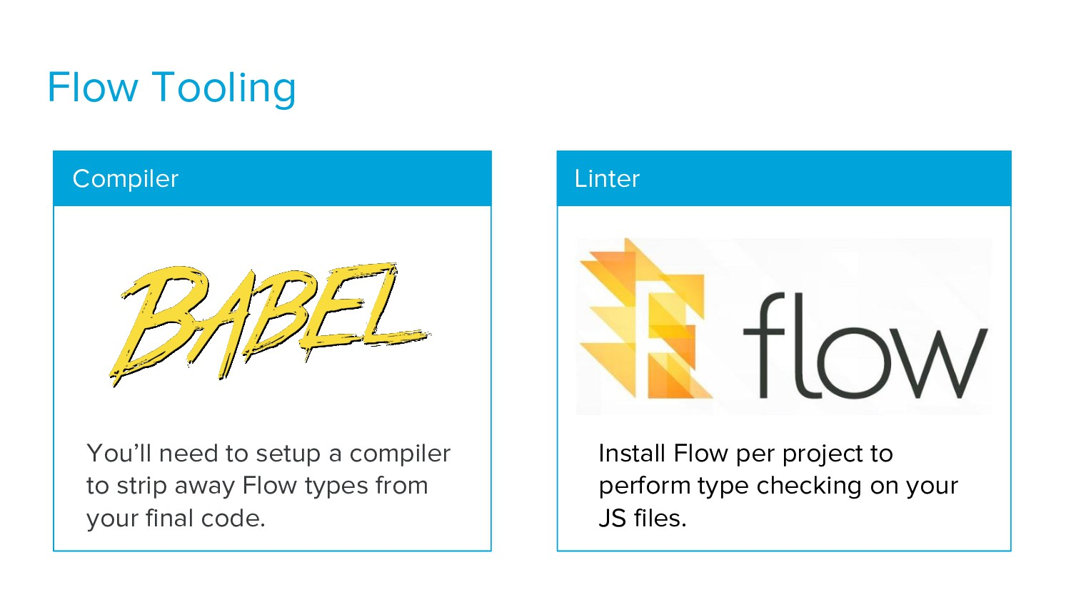 Flow Tooling Linter Compiler You'll need to set...