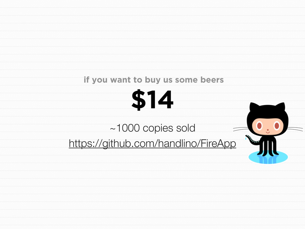 if you want to buy us some beers $14 ~1000 copi...