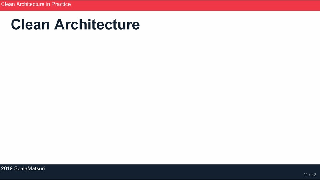 Clean Architecture Clean Architecture in Practi...