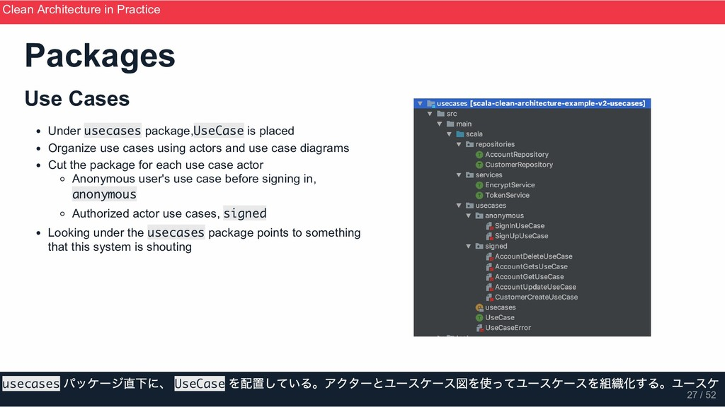 Use Cases Under usecases package,UseCase is pla...