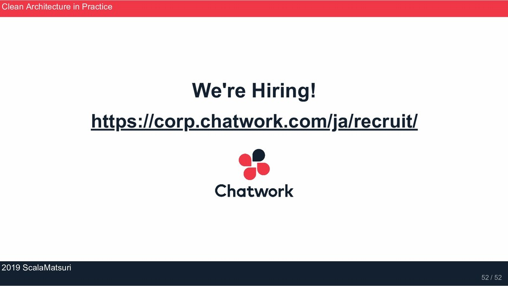 We're Hiring! https://corp.chatwork.com/ja/recr...