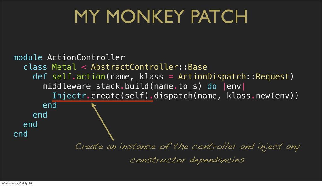 MY MONKEY PATCH module ActionController class M...
