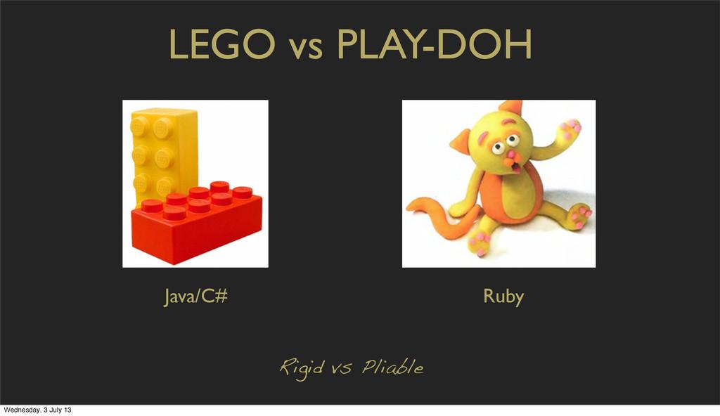 LEGO vs PLAY-DOH Rigid vs Pliable Java/C# Ruby ...