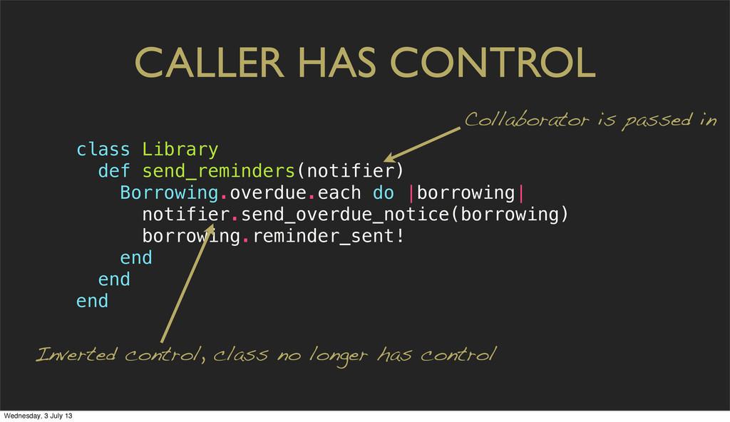 CALLER HAS CONTROL Inverted control, class no l...