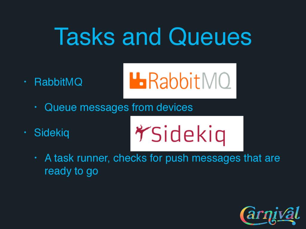 Tasks and Queues • RabbitMQ • Queue messages fr...
