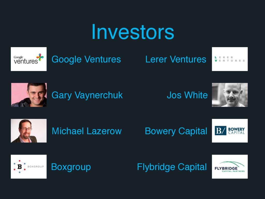 Investors Google Ventures Gary Vaynerchuk Micha...