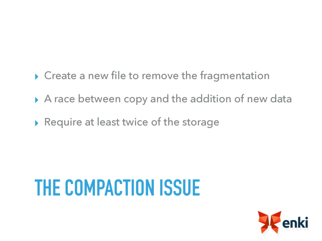 ▸ Create a new file to remove the fragmentation ...