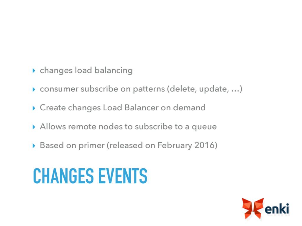 ▸ changes load balancing ▸ consumer subscribe o...