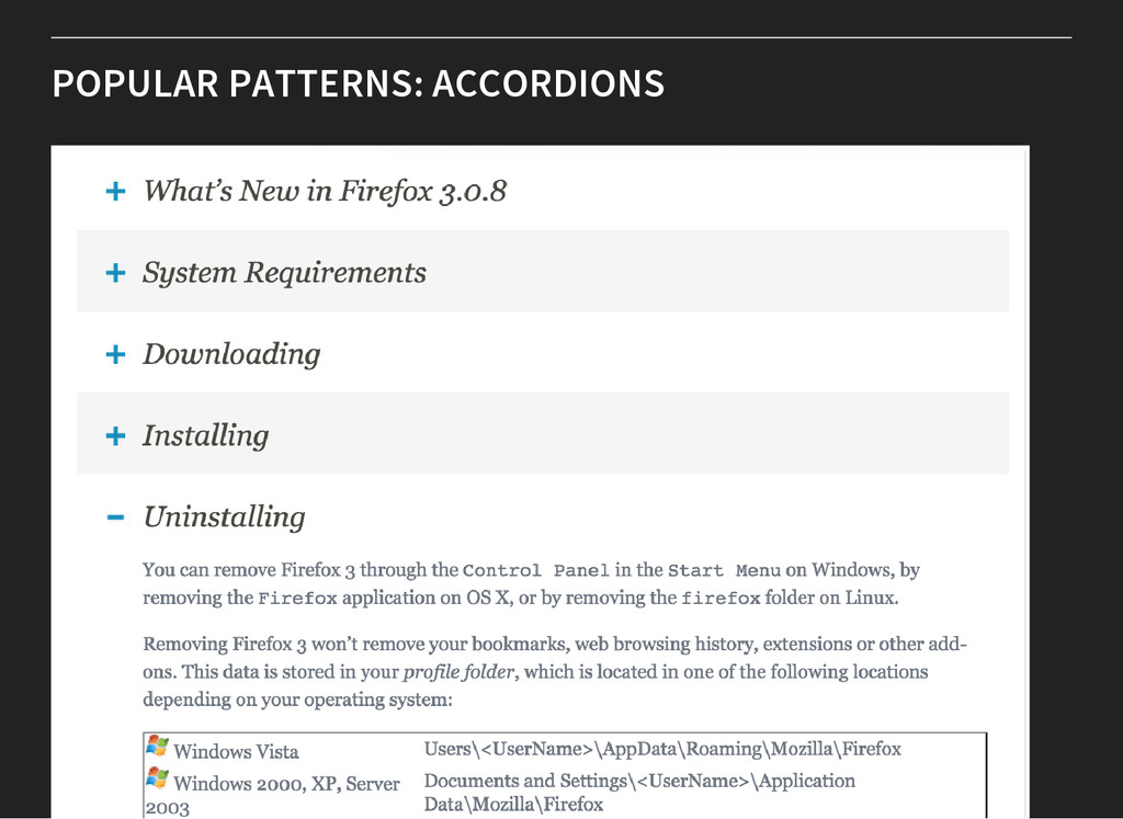 POPULAR PATTERNS: ACCORDIONS