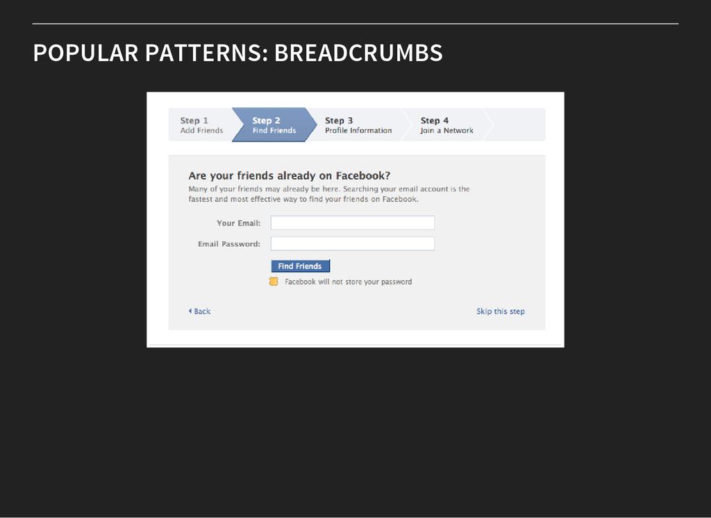 POPULAR PATTERNS: BREADCRUMBS