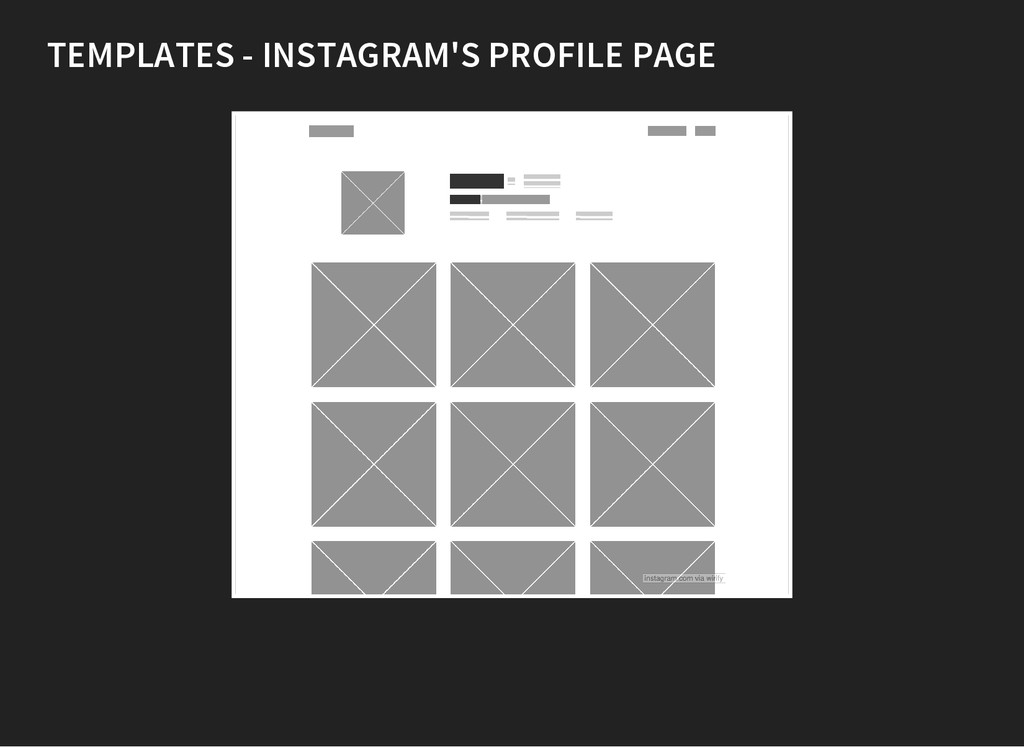 TEMPLATES - INSTAGRAM'S PROFILE PAGE