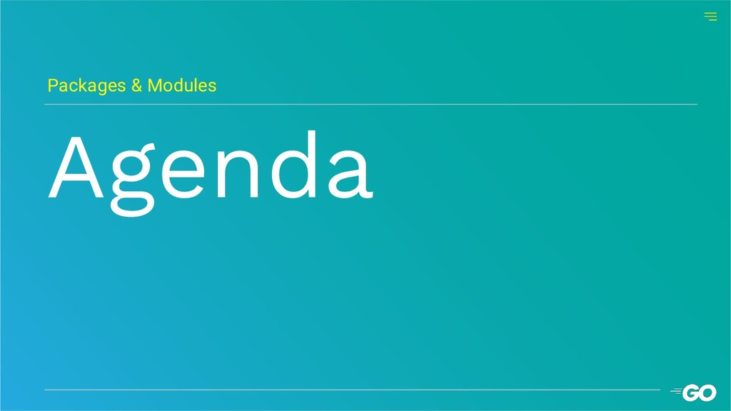 Agenda Packages & Modules