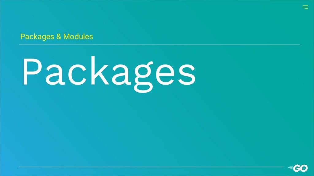 Packages Packages & Modules