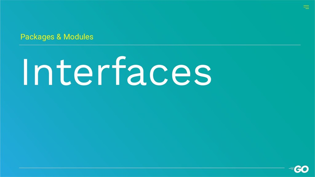 Interfaces Packages & Modules