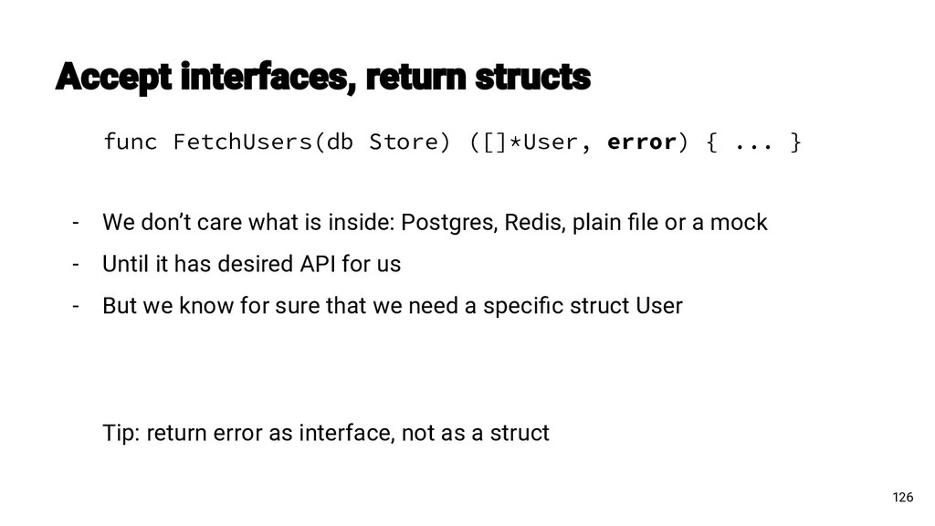 func FetchUsers(db Store) ([]*User, error) { .....