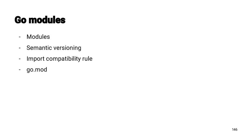 146 - Modules - Semantic versioning - Import co...