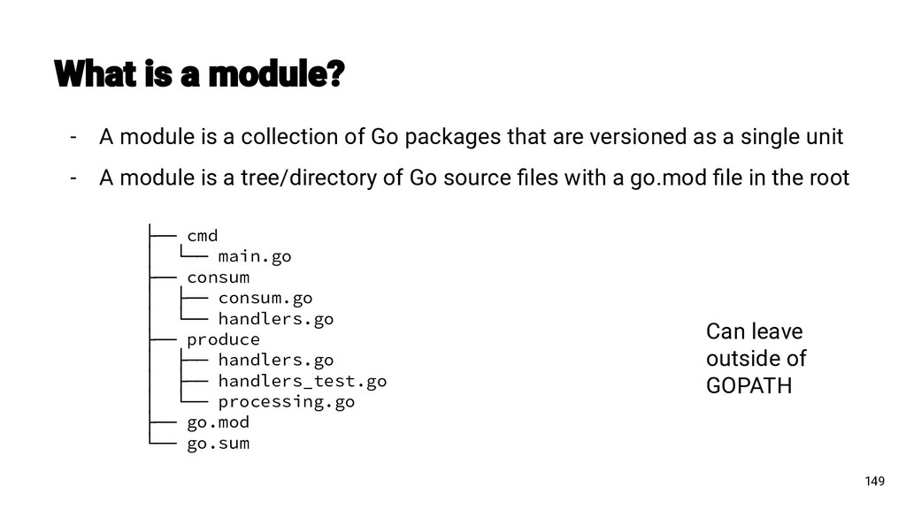 - A module is a collection of Go packages that ...