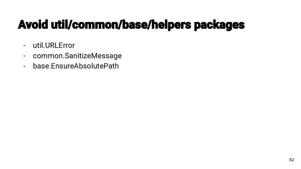 - util.URLError - common.SanitizeMessage - base...
