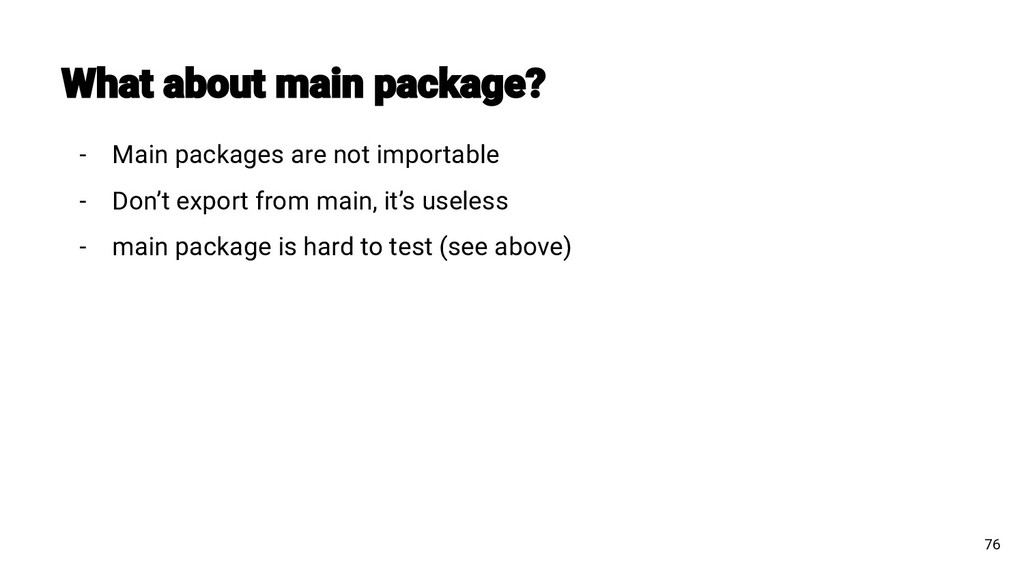 - Main packages are not importable - Don't expo...