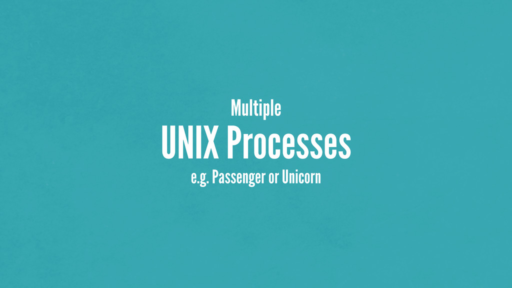 Multiple UNIX Processes e.g. Passenger or Unico...