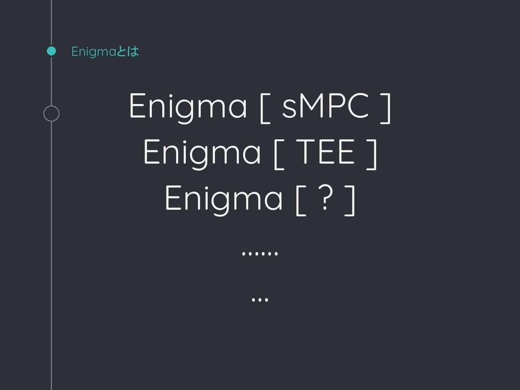 Enigmaとは Enigma [ sMPC ] Enigma [ TEE ] Enigma ...