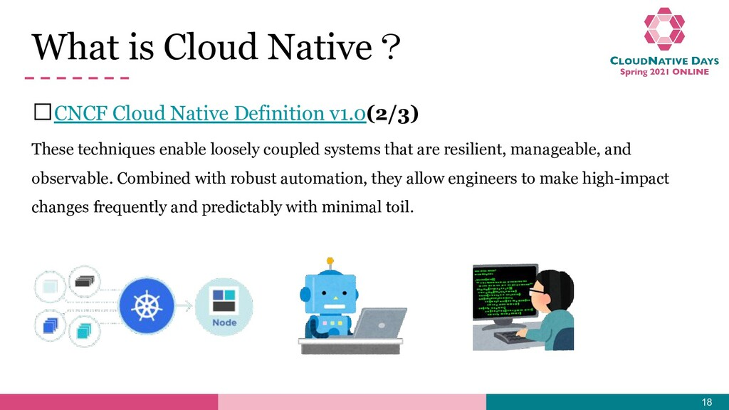 𝥷CNCF Cloud Native Definition v1.0(2/3) These t...