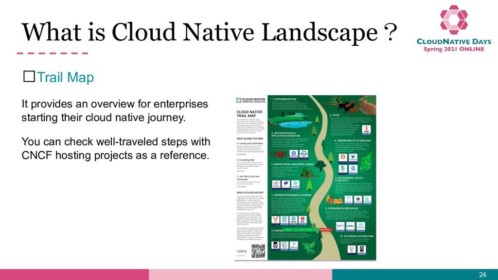 What is Cloud Native Landscape? 𝥷Trail Map It p...