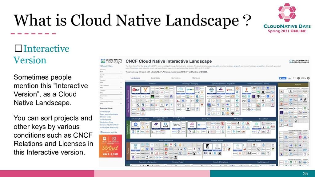 What is Cloud Native Landscape? 𝥷Interactive Ve...