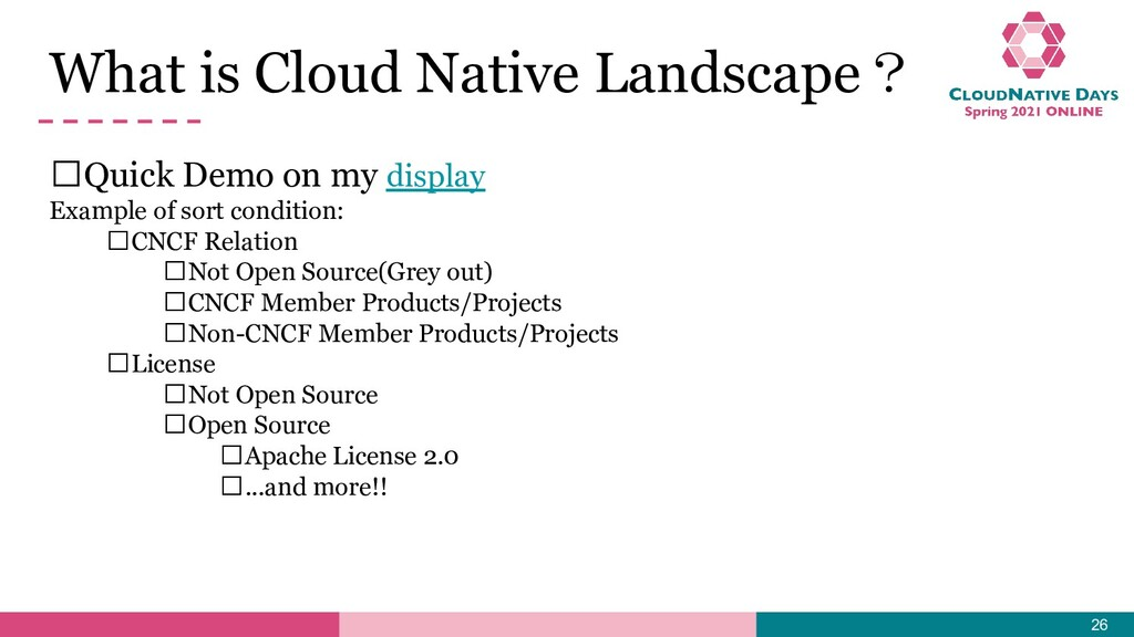 What is Cloud Native Landscape? 𝥷Quick Demo on ...