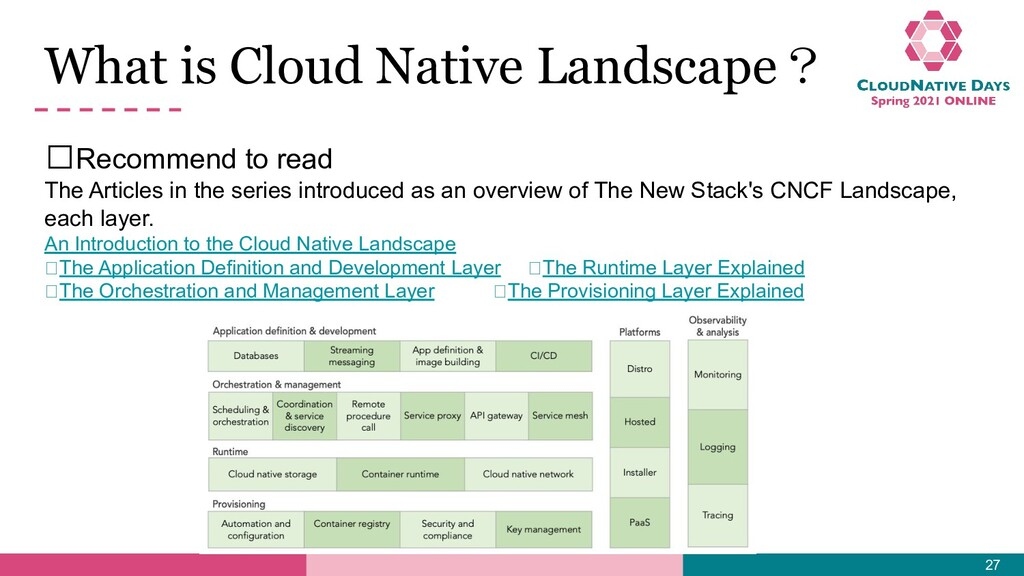 What is Cloud Native Landscape? 𝥷Recommend to r...