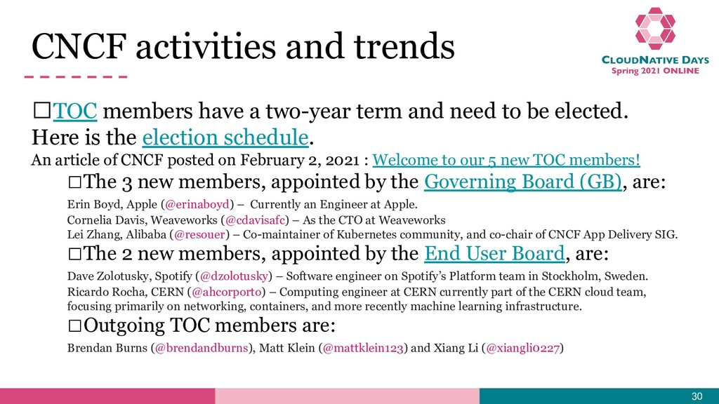𝥷TOC members have a two-year term and need to b...