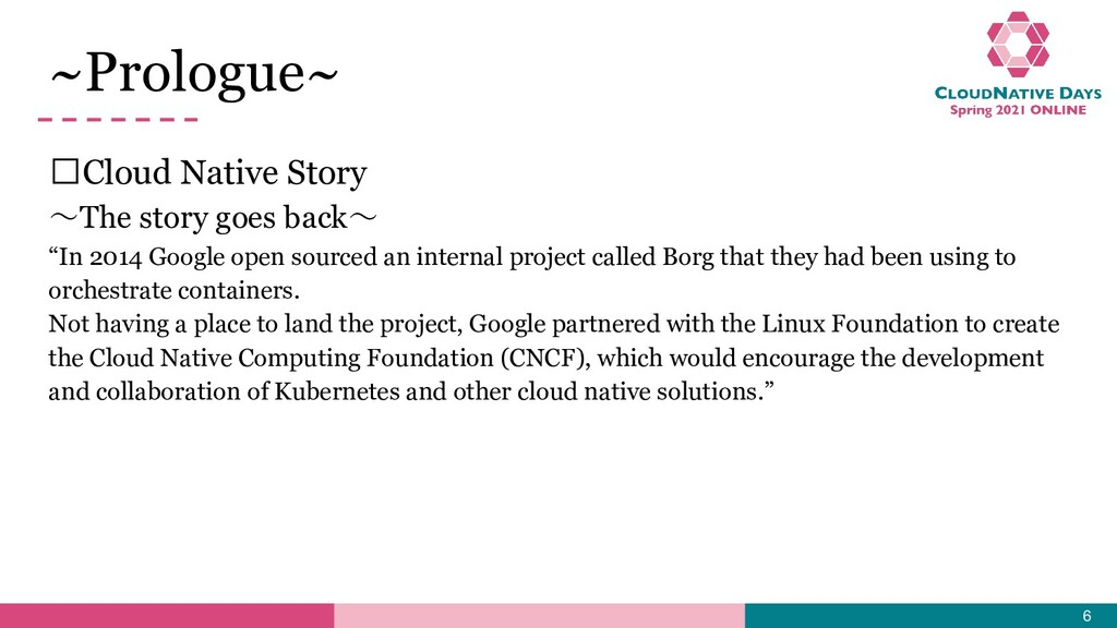 """𝥷Cloud Native Story ~The story goes back~ """"In 2..."""