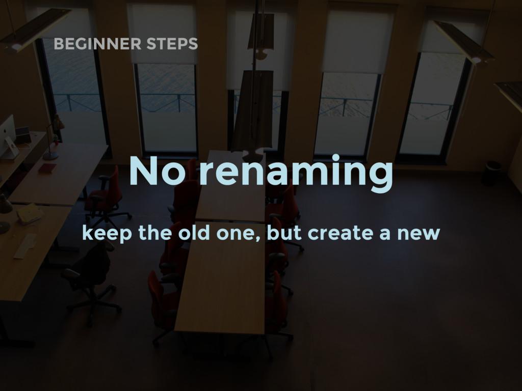 BEGINNER STEPS No renaming keep the old one, bu...