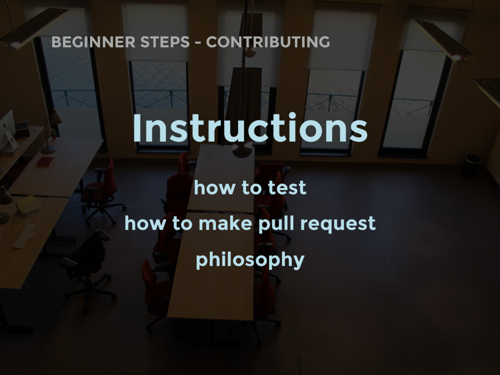 BEGINNER STEPS - CONTRIBUTING Instructions how ...