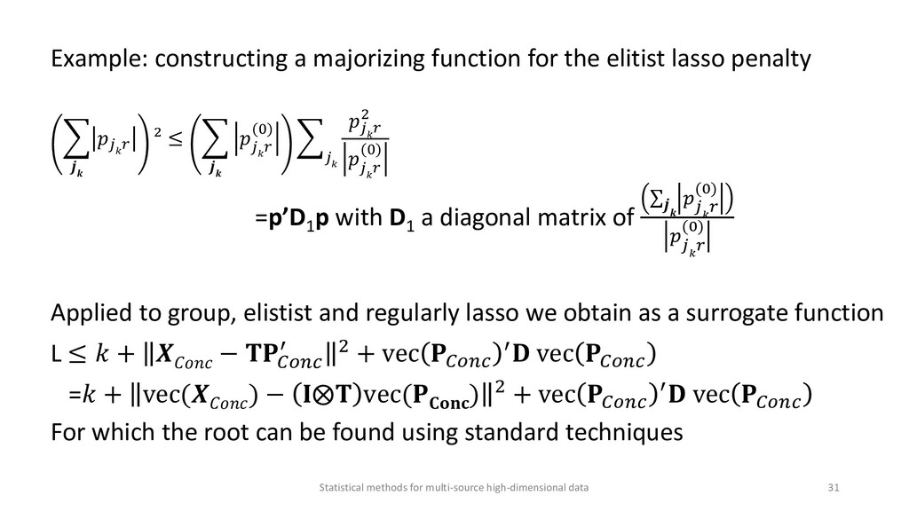 Example: constructing a majorizing function for...
