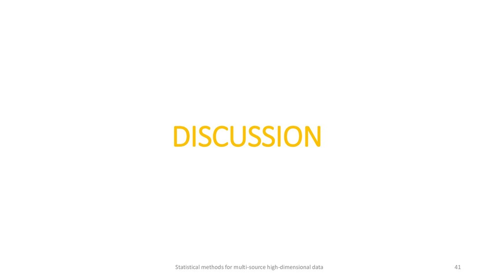 DISCUSSION Statistical methods for multi-source...