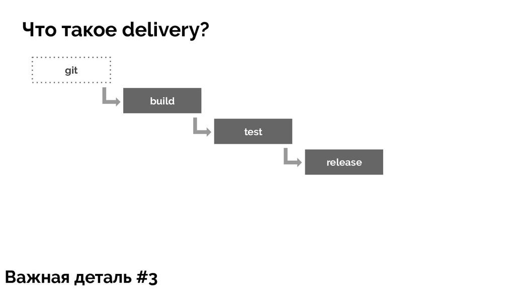 git build test release Важная деталь #3 Что так...
