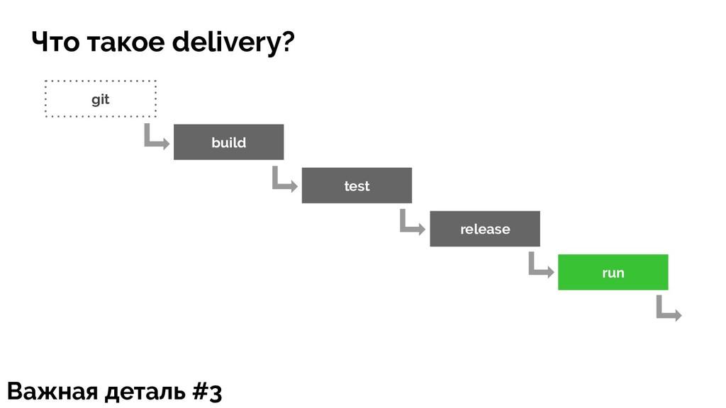 git build test release run Важная деталь #3 Что...