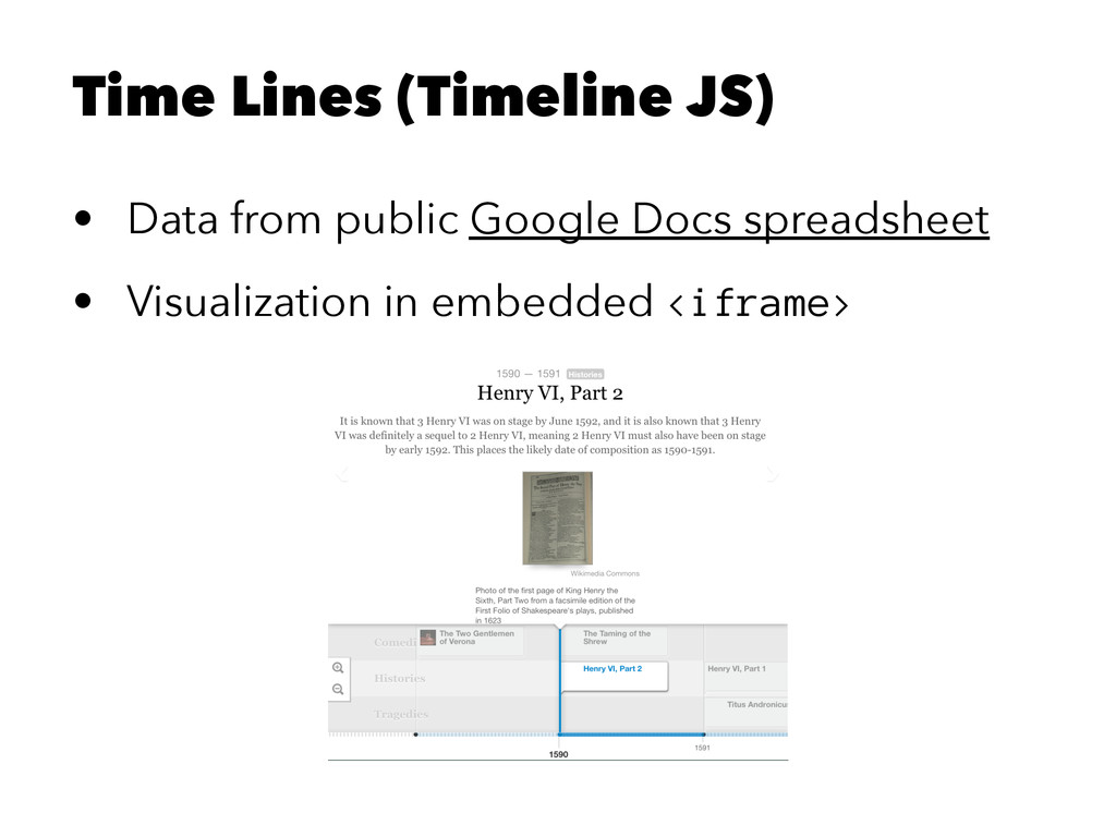 Time Lines (Timeline JS) • Data from public Goo...