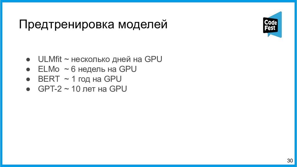 Предтренировка моделей ● ULMfit ~ несколько дне...