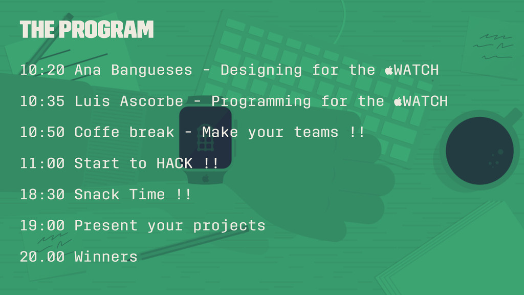 The Program 10:20 Ana Bangueses - Designing for...