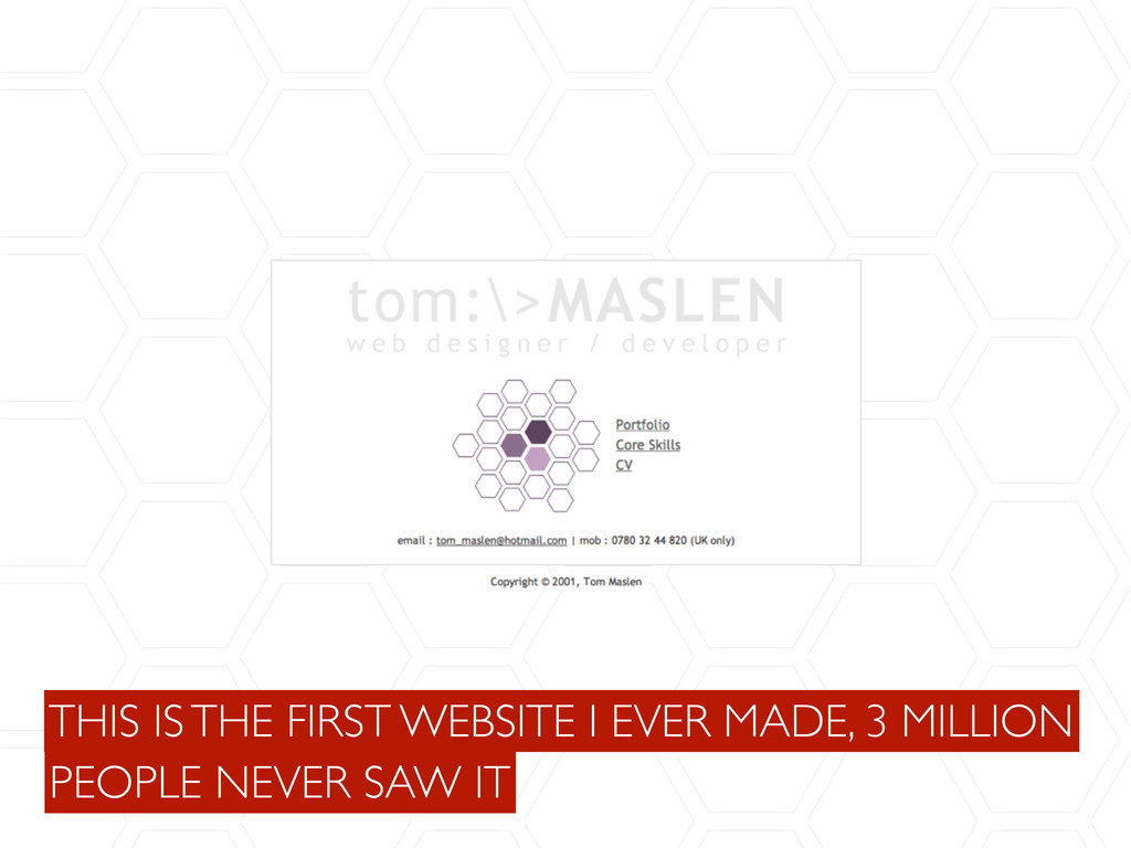 PEOPLE NEVER SAW IT THIS IS THE FIRST WEBSITE I...