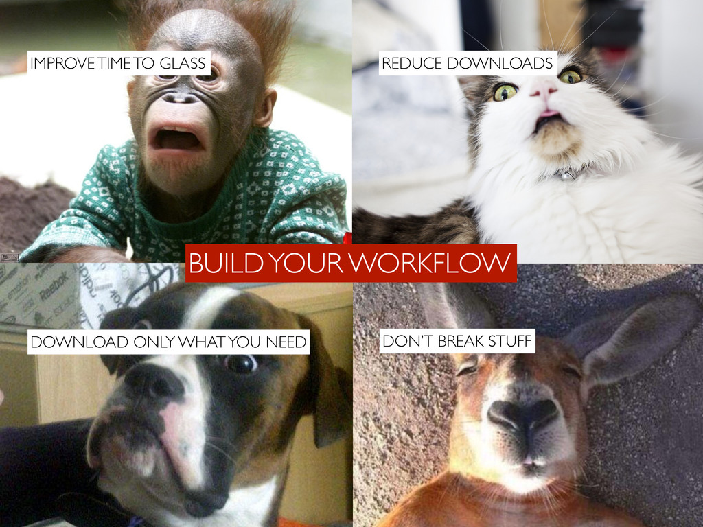 BUILD YOUR WORKFLOW DOWNLOAD ONLY WHAT YOU NEED...