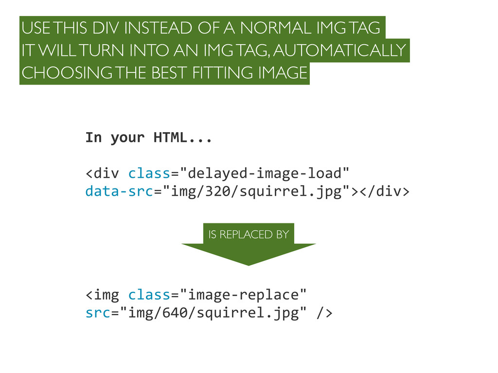"""In your HTML... <div class=""""delayed-‐..."""