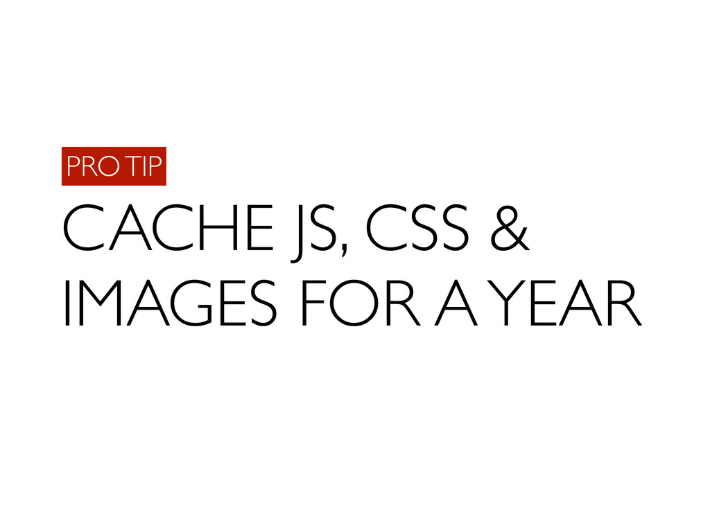 PRO TIP CACHE JS, CSS & IMAGES FOR A YEAR