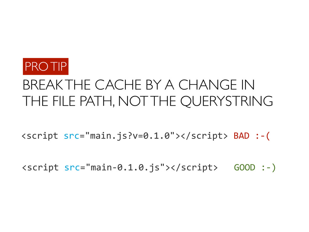 BREAK THE CACHE BY A CHANGE IN THE FILE PATH, N...