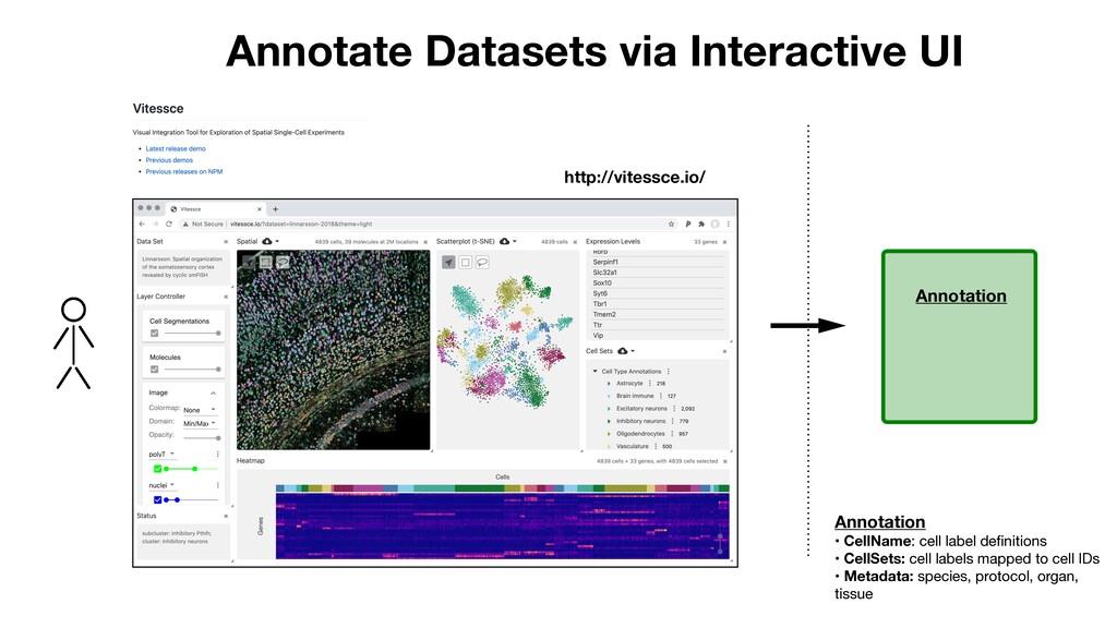 http://vitessce.io/ Annotate Datasets via Inter...